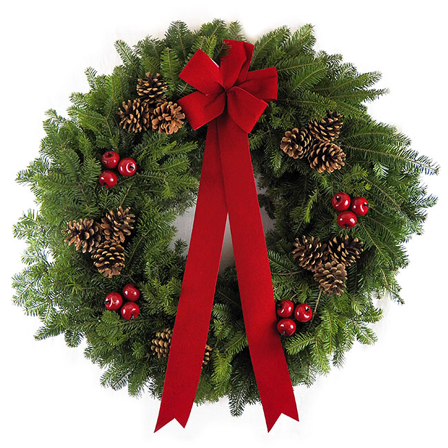 "30"" Maine Holiday Wreath"
