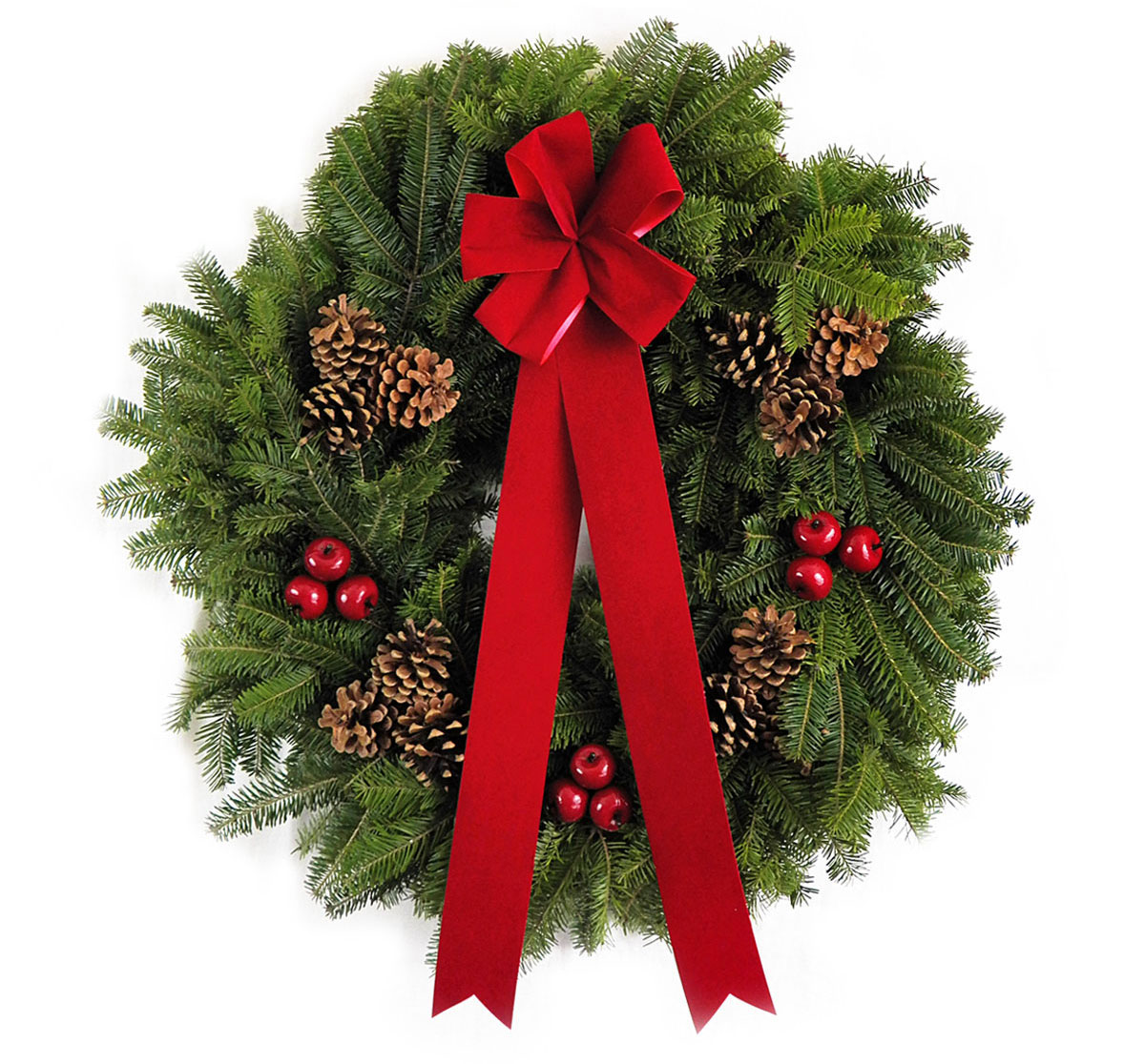 "22"" Maine Holiday Wreath"